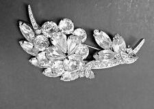 Vintage Signed Eisenberg Ice Rhinestone Pin or Brooch (K-2).