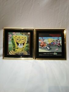 Spongbob Squairpants Spongy Rider and Forgot My Underwear 8x8 Framed Pictures