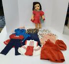 """N57 VINTAGE 1950/60'S TERRI LEE 16"""" DOLL TAGGED DRESS & EXTRA CLOTHES"""
