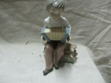 """nao by lladro figurine 7"""" tall boy with accordian"""