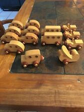 Montgomery Schoolhouse Inc. Vermont Wooden Toys **Lot of 14