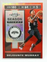 Panini Contenders Optic 2019-20 red prizm carte card #75 Dejounte Murray