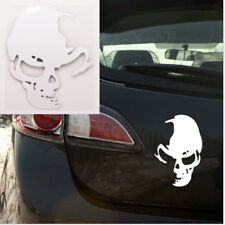 1Pcs Skull Car Motorcycle Sticker Label Skull Stickers Accessories White FR