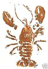 "Gyotaku Fish Rubbing - ""Prowler"" - Lobster"