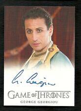 2014 Game of Thrones Season 3 George Georgiou as Razdal Mo Eraz Autograph