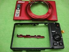GENUINE NIKON S8200 FRONT BACK CASE RED REPAIR PARTS