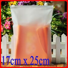 25 Ziplock Strong Slider Seal Bags Zipper Slider Plastic Poly Bags 17x25cm