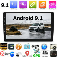 """10.1"""" Inch Car Radio Android 9.1 Stereo GPS Navi MP5 Player WiFi 2 Din Quad Core"""