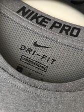 Homme Nike Pro Combat Compression Chemise à Manches Longues Couche De Base Top Dri Fit taille M