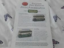 EFE Diecast model bus fleet focus leaflet MAIDSTONE & DISTRICT BUSES OFFERS