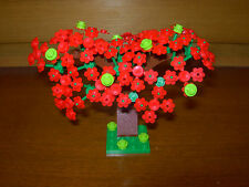 Lego Custom Red Apple Tree Plant Forest Grass City Layout Train Car My Own 9V RC
