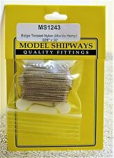 "Model Shipways Fittings MS 1243 Beige Twisted Rigging. .028"" X 30'. 10 YDS. NEW."
