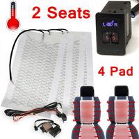 4x 12V Fibre de Carbone Auto Coussin Chauffant Siège Sécurité Pad Chauffage SUV