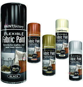 Fabric Spray Paint Leather Vinyl Textile Clothes Flexible Fast Drying 200ml