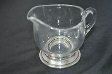 Vintage Glass Clear Glass Creamer Bowl with a Sterling Silver Base #Z1