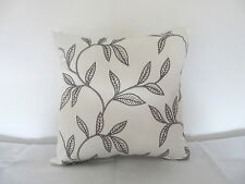 "Embroidered leaf design satin 16"" Cotton  Cushion Cover"