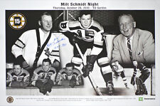 Boston Bruins 11 x 17 poster 10/28/10 MILT SCHMIDT NIGHT SIGNED AUTOGRAPHED COA