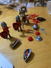 2002 Play Mobile Red Dragon Troops & Replacement Castle Parts P99