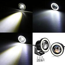 2x Auto Car COB LED Weiß Licht DRL Nebelscheinwerfer Angel Augen Halo Spot Lampe