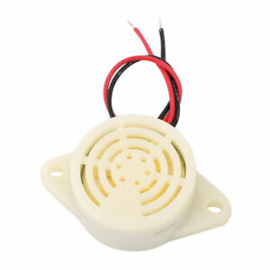 DC 3-24V 12V 2-Wired Continuous Active Electronic Buzzer Alarm grey white