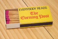 Vintage Wellington New Zealand The Evening Post Newspaper Matchbook With Matches