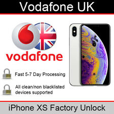 Vodafone UK iPhone XS Factory Unlocking Service