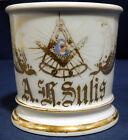 Vintage Antique Fraternal Porcelain Shaving Mug Masonic Order Masons A.R. Sulis