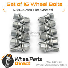 Original Style Wheel Bolts (16) 12x1.25 Flat For Citroen AX 4 Stud 92-98