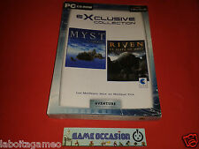 COFFRET MYST L'APOGEE + RIVEN LA SUITE PC CD-ROM PAL