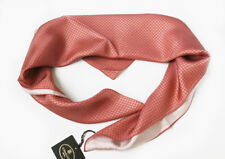 Corneliani Mens 100% Silk Pink Scarf Neck Foulard Made in Italy NWT Gift For Him
