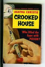 CROOKED HOUSE by Christie, rare Pocket #753 1st crime hypo drug pulp vintage pb