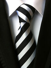 Classic Men's Ties Silk Necktie JACQUARD WOVEN Neck Tie Prom Wide Striped Color