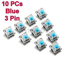 10pcs Blue 3 Pin Mechanical Switch Keyboard Replacement for Gateron RGB Series