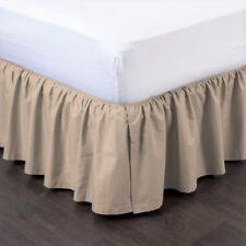 "NEW MODERN SOLID DUST RUFFLE SPLIT CORNERS 1PC BED BEDDING PLEATED SKIRT 14""DROP"