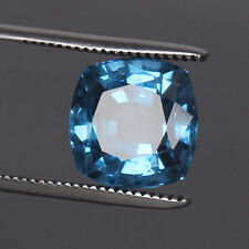 Gorgeous! Swiss Blue Topaz 9.30 Ct. Square Cut Natural Loose Gems Certified