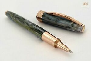 VISCONTI VAN GOGH ORCHARD IN BLOSSOM ROSE GOLD TRIM ROLLER BALL PEN MAGNIFICENT!
