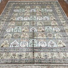 New 9'x12' Large Size Four Season Pattern Carpet Handmade Bedroom Silk Area Rugs