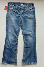 Womens Silver Brand LOLA Flare Med. Blue Boot Cut Jeans Size 31 Factory Faded