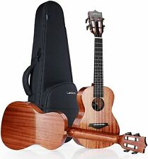 More details for 21 inch solid mahogany ukulele soprano for beginners pack
