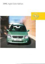 Prospetto/brochure OPEL AGILA Color Edition 12/2002
