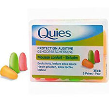 Quies Soft Foam Ear Protection Plugs 35dB - Pack of 6 Pairs