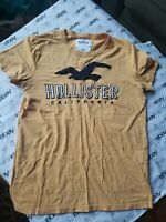 Men Hollister Short Sleeve Yellow Crew Neck Tshirt Size Small