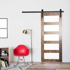 6FT American Interior Wood Sliding Barn Door hardware Closet Track Roller Kit