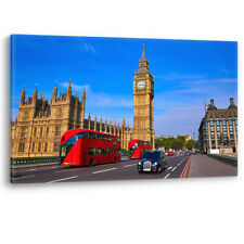 Red Bus Big Ben Parliament in London Luxury Canvas Wall Art Large Picture Print