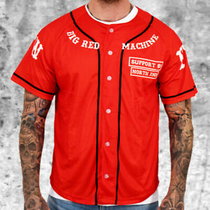 Hells Angels Support 81 Baseball Jersey FTS Red Shirt S-4XL - HAMC North End