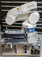 6 Axis Working Denso Robot Arm/Controller/Robot Cable/Teach Pendant, see video