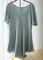 CUT LOOSE Comfy Lagenlook Cotton Tunic Shirt : Medium Women's Slate Blue