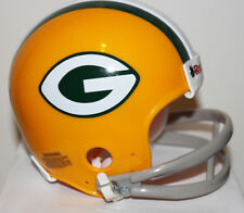 1960 - 1966 Green Bay Packers Jim Taylor Riddell Mini Helmet w/ 2 Bar Facemask