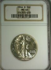 1944 D  SILVER WALKING LIBERTY NGC  MS-64  GREAT LOOKING COIN!!!