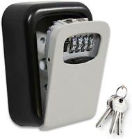 Key Lock Safe Box - Lockbox for House Keys - to Hide a Key Outside - Wall Mount